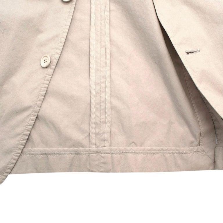 Prada Beige Cotton Single Breasted Blazer Jacket - Size L IT50  For Sale 4