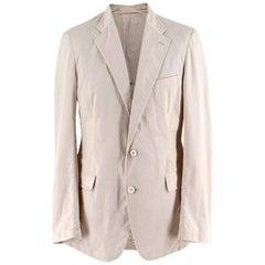 Prada Beige Cotton Single Breasted Blazer Jacket - Size L IT50