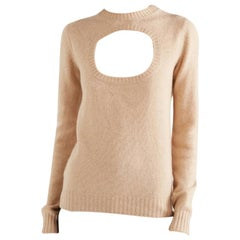 Prada Beige Cutout Knit Jumper 36