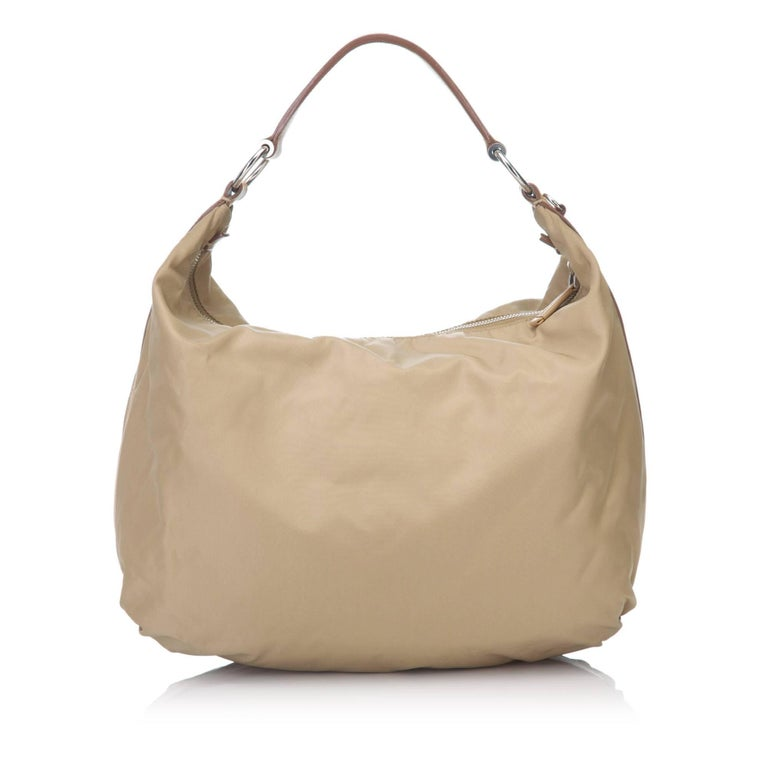 46fc5fd40b Prada Beige Logo Nylon Shoulder Bag In Good Condition For Sale In Orlando