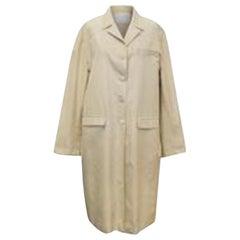 Prada Beige Long Silk Coat IT 46