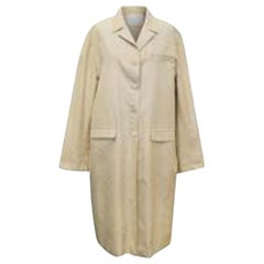 Prada Beige Long Silk Coat - Size US 10