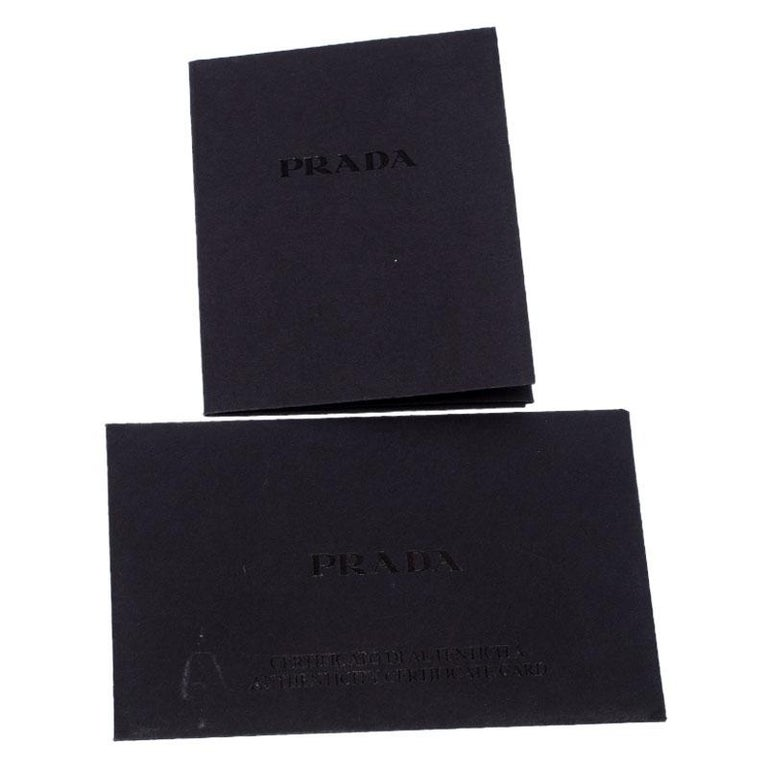 Prada Beige Nappa Leather Mini Bandoliera Wallet On Chain For Sale 6