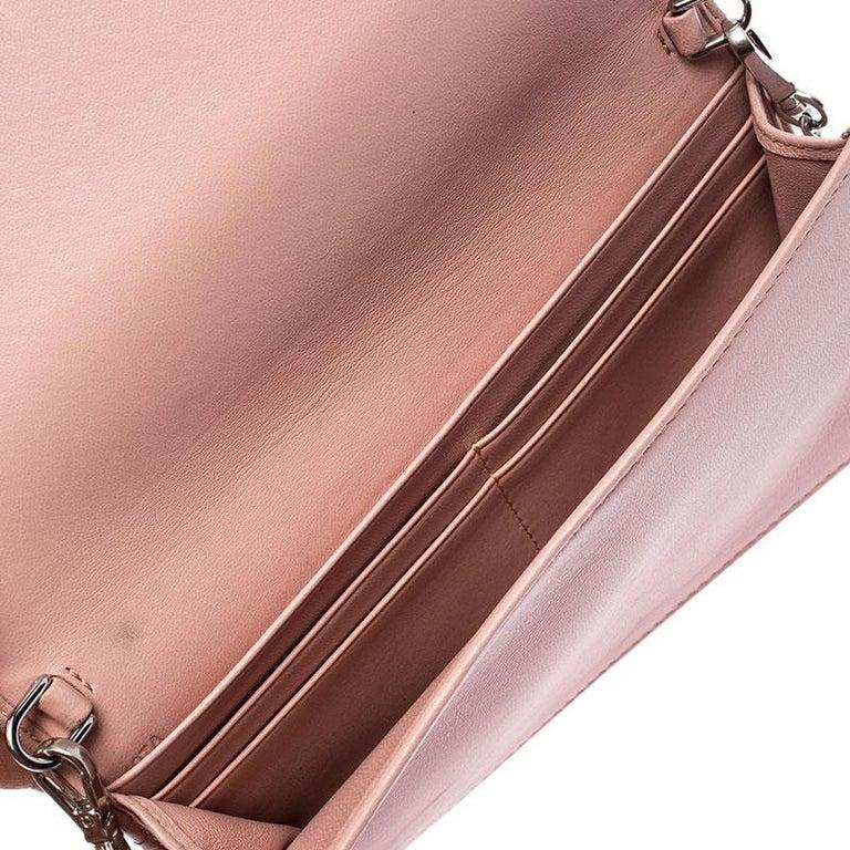 Prada Beige Nappa Leather Mini Bandoliera Wallet On Chain For Sale 2