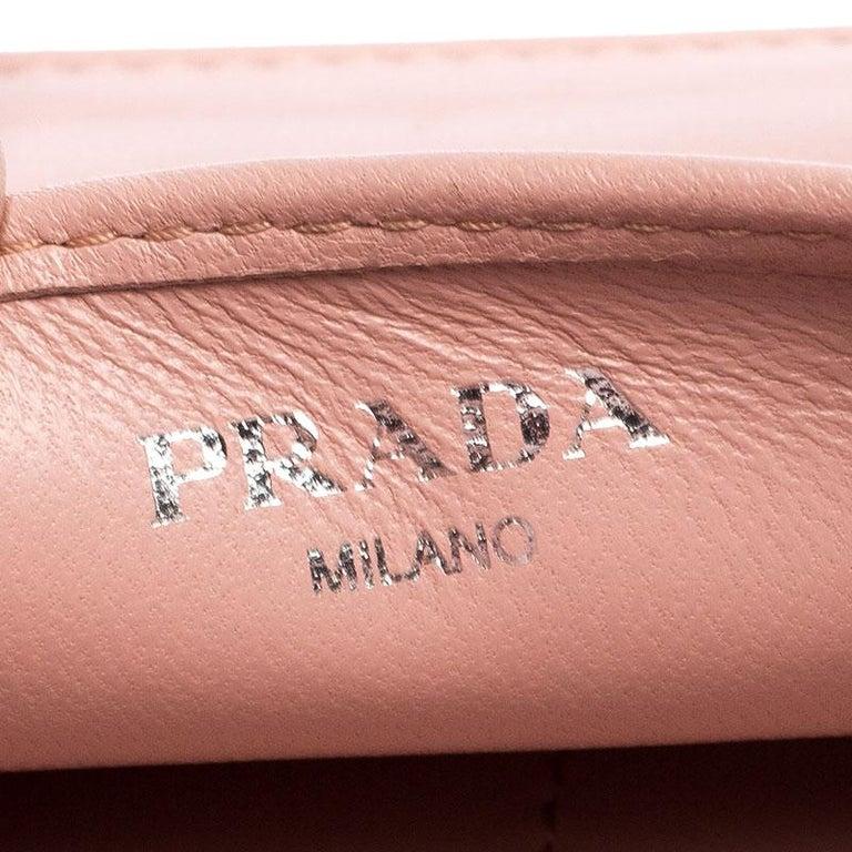Prada Beige Nappa Leather Mini Bandoliera Wallet On Chain For Sale 5