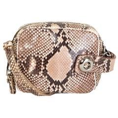 PRADA beige pink PYTHON snakeskin Crossbody Shoulder Bag