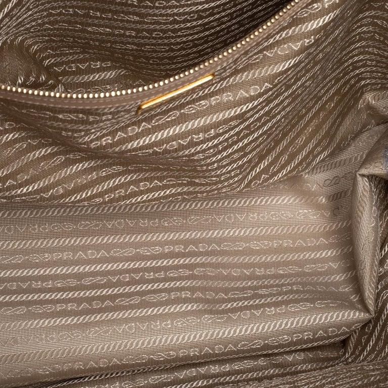 Prada Beige Saffiano Lux Leather Large Gardener's Tote For Sale 2