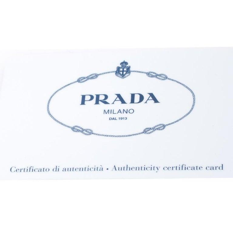 Prada Beige Saffiano Lux Leather Small Tote For Sale 6