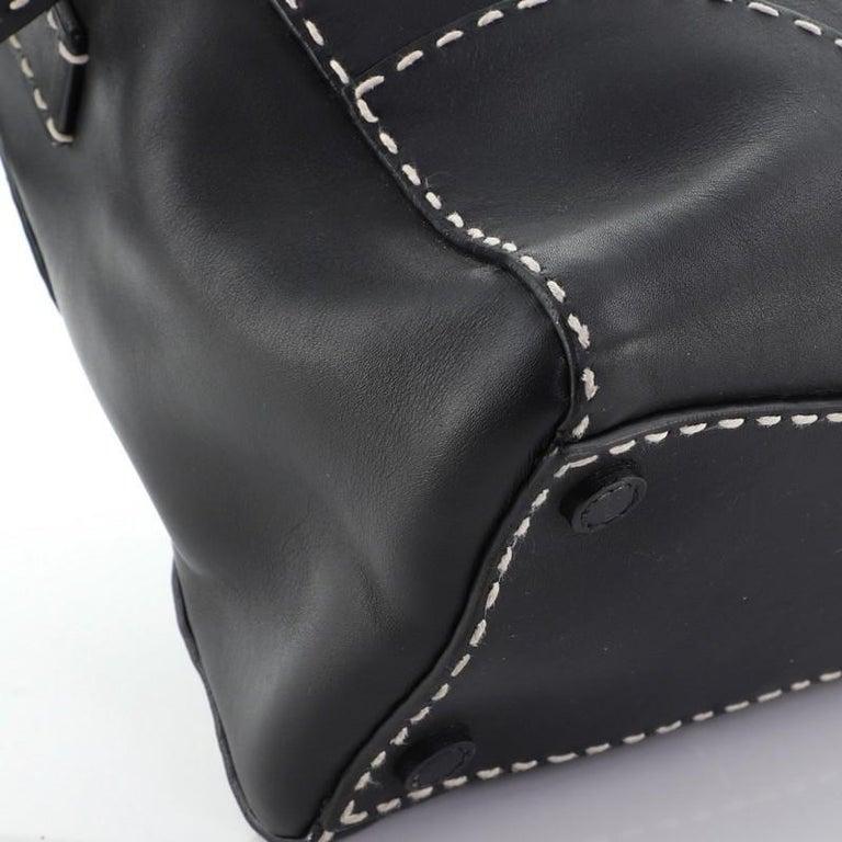 Prada Belted Hobo Stitched City Calf Medium For Sale 3