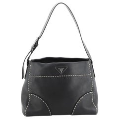 Prada Belted Hobo Stitched City Calf Medium