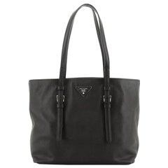 Prada Belted Soft Tote Saffiano Leather Medium