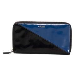 Prada Bi Color Zip Around Long Wallet