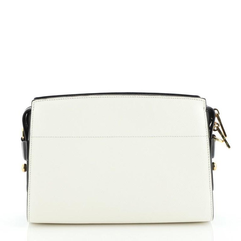 Prada Bibliotheque Crossbody Saffiano Leather In Good Condition For Sale In New York, NY
