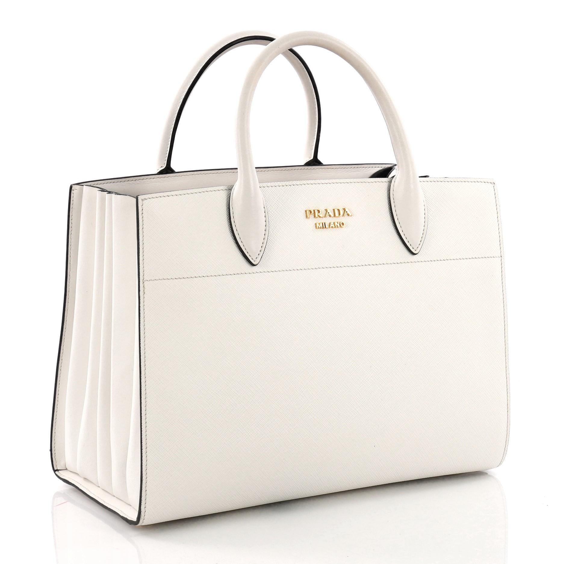 62dd4f0cdb Prada Bibliotheque Handbag Saffiano Leather with City Calfskin Medium at  1stdibs