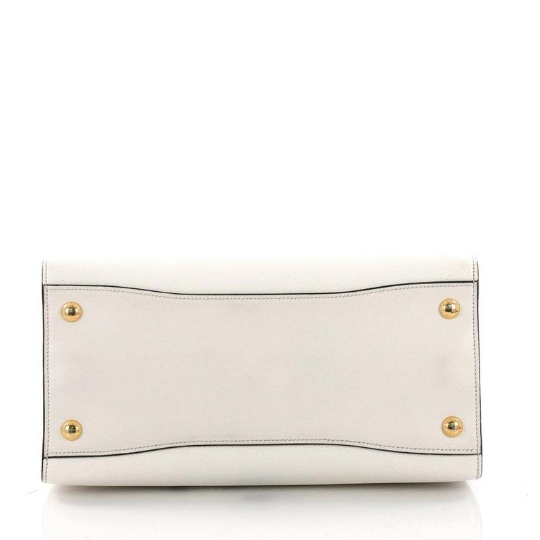c860cafdb321 Women's or Men's Prada Bibliotheque Handbag Saffiano Leather with City  Calfskin Medium For Sale