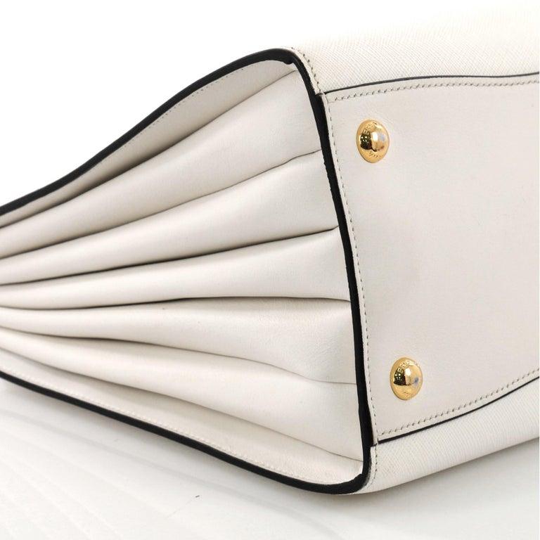 c363cb40f29d Prada Bibliotheque Handbag Saffiano Leather with City Calfskin Medium For  Sale 2