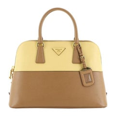 Prada Bicolor Promenade Bag Saffiano Leather Medium