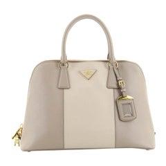 Prada Bicolor Promenade Bag Saffiano Leather Medium