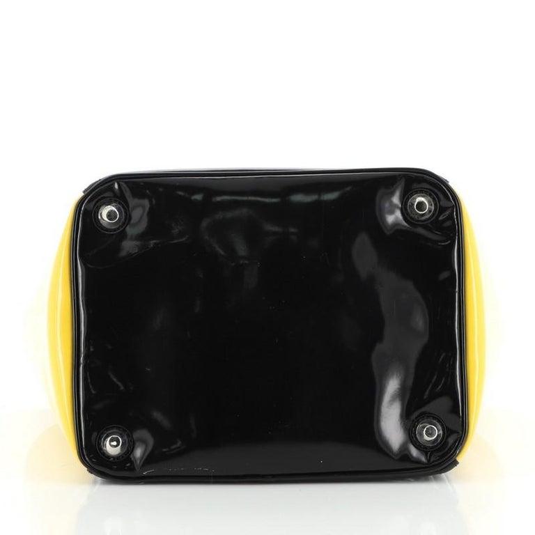 Women's or Men's Prada Bicolor Top Handle Tote Spazzolato Leather Small For Sale