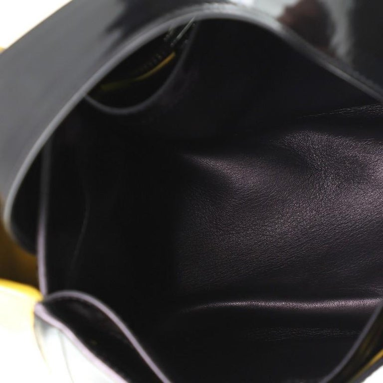 Prada Bicolor Top Handle Tote Spazzolato Leather Small For Sale 1