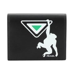 Prada Bifold Wallet Printed Leather Compact