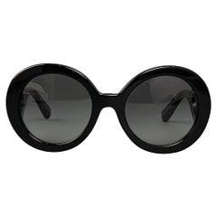 PRADA Black Acetate Minimal Baroque Sunglasses