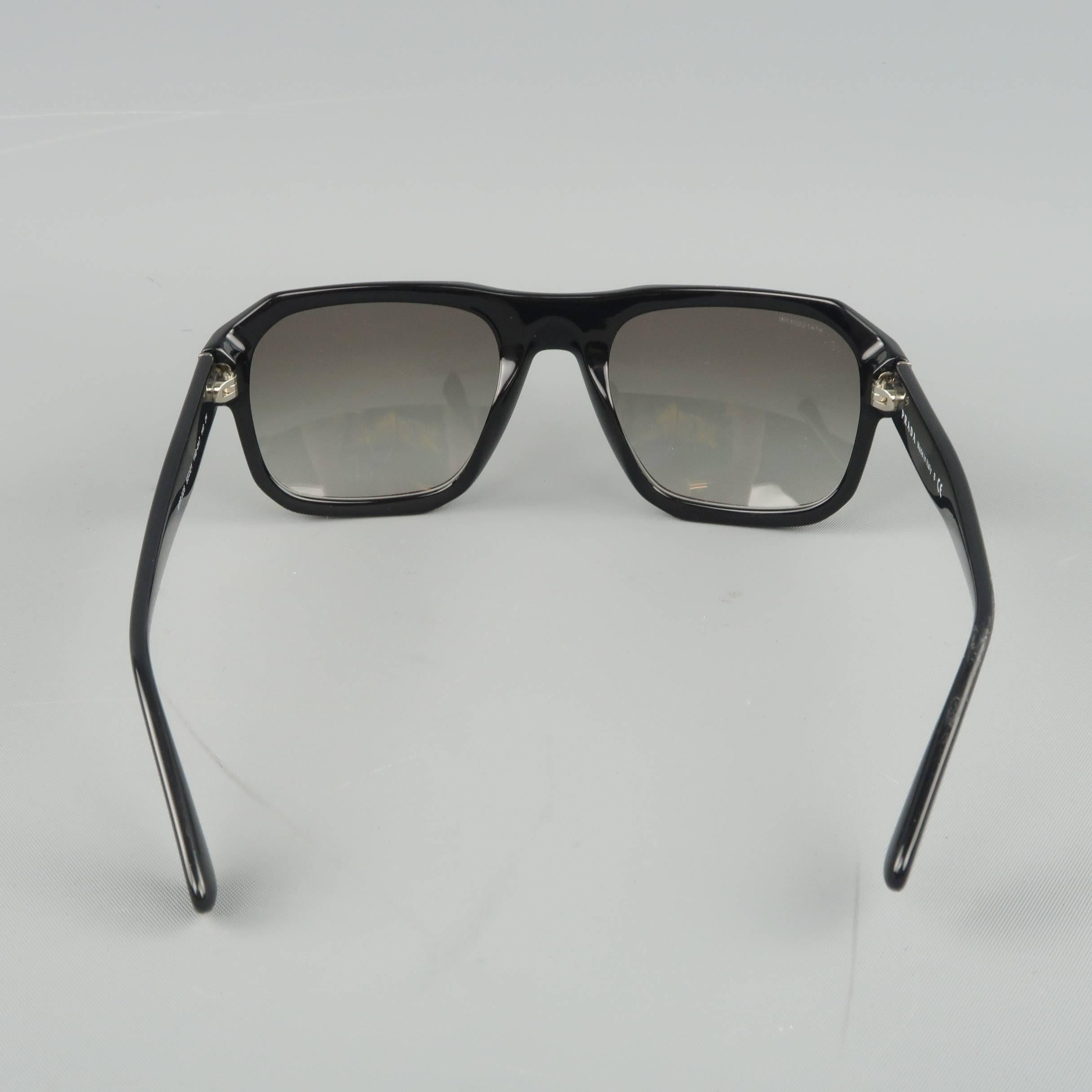 d106e65c0845 ... store prada sunglasses black acetate spr 02s flat top spring for sale 1  48218 d0fff