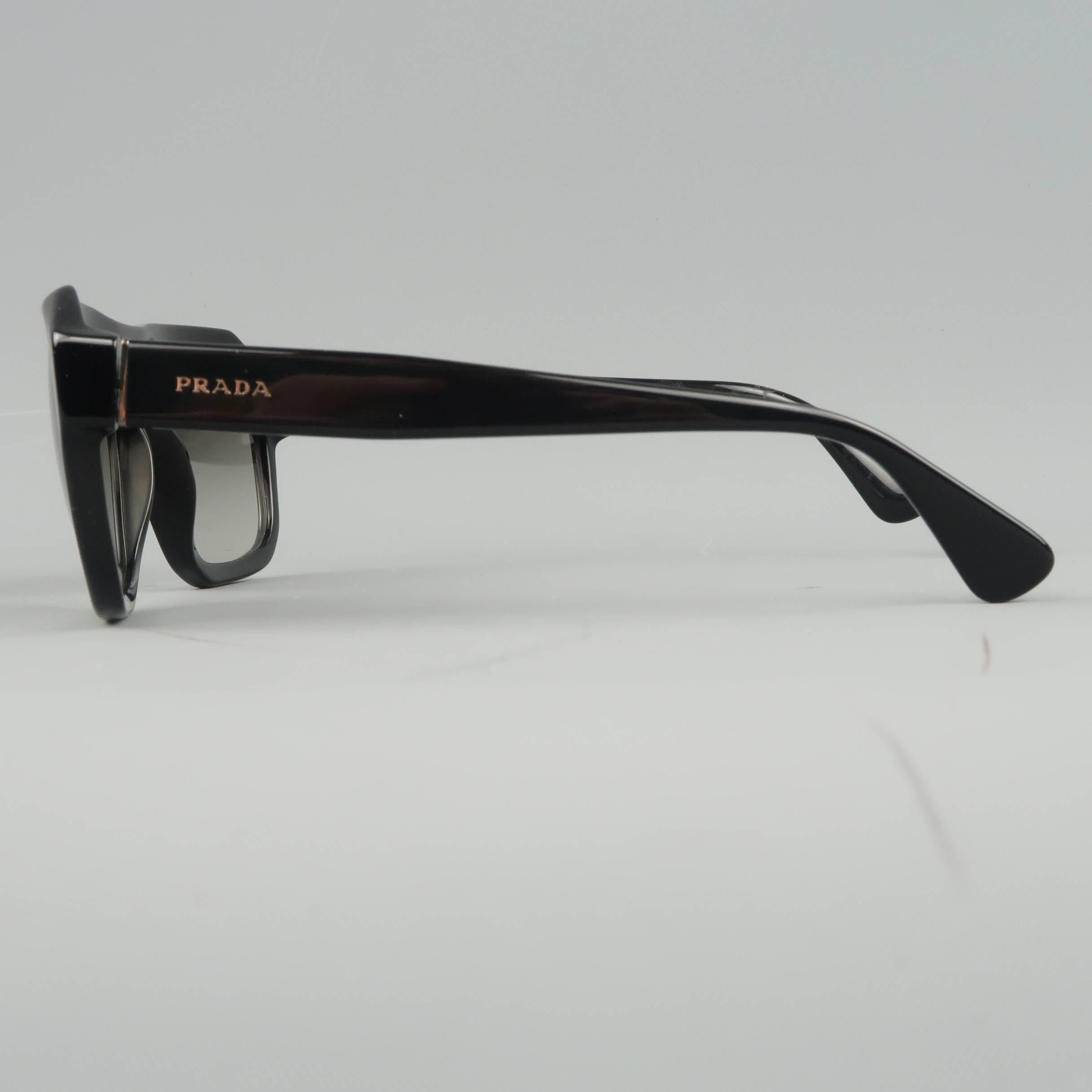1121531266 PRADA Sunglasses - Black Acetate SPR 02S Flat Top SPRING at 1stdibs