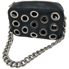 Prada Black Art Bag Silver Holes