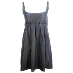 PRADA Black Babydoll Sleeveless Mini Dress Size 42