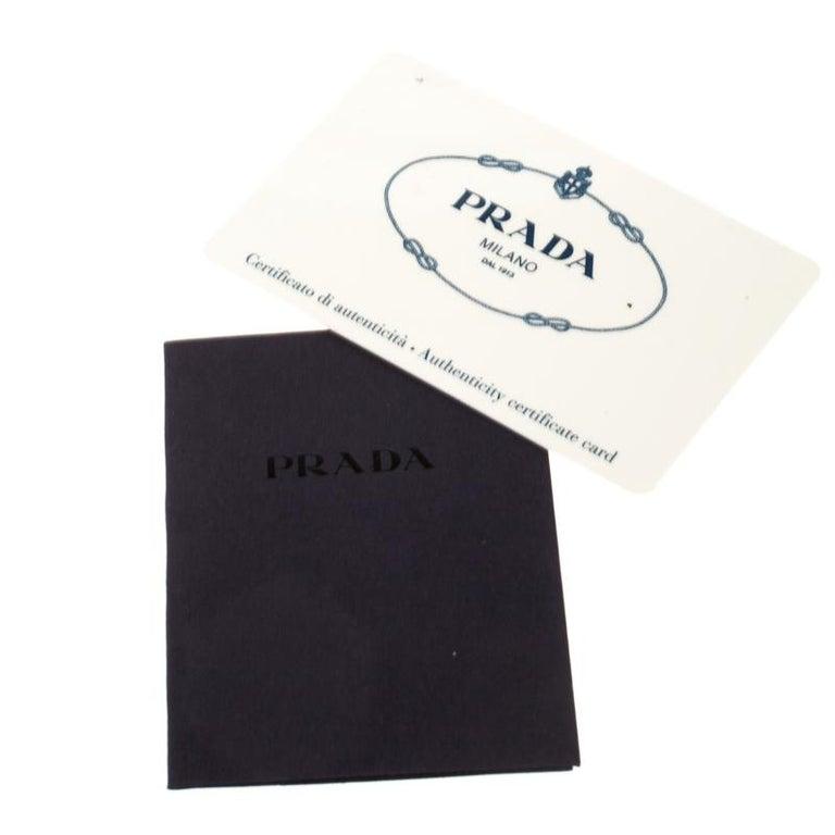 Prada Black Canvas and Leather Trim Bowler Bag For Sale 4