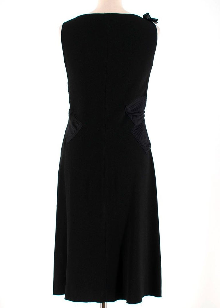 Prada Black Chiffon Detail Sleeveless Dress 40 XS In Excellent Condition For Sale In London, GB