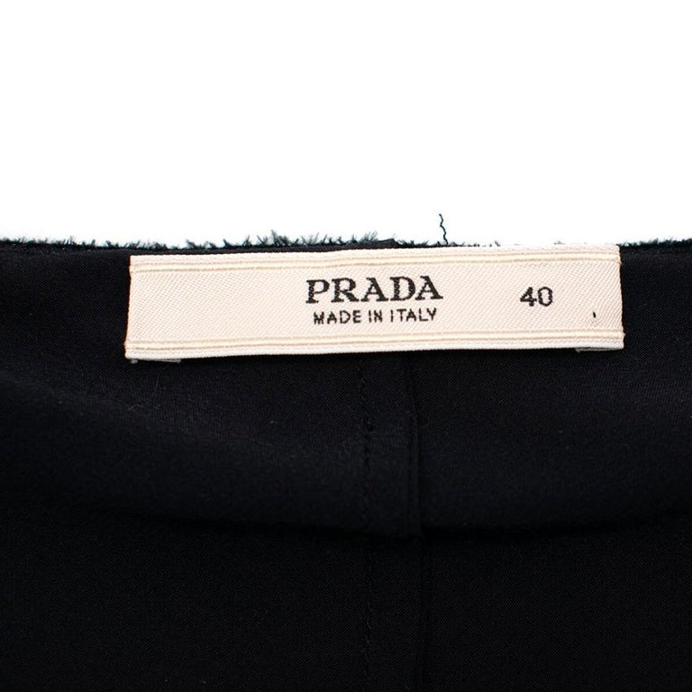 Prada Black Chiffon Detail Sleeveless Dress 40 XS For Sale 1