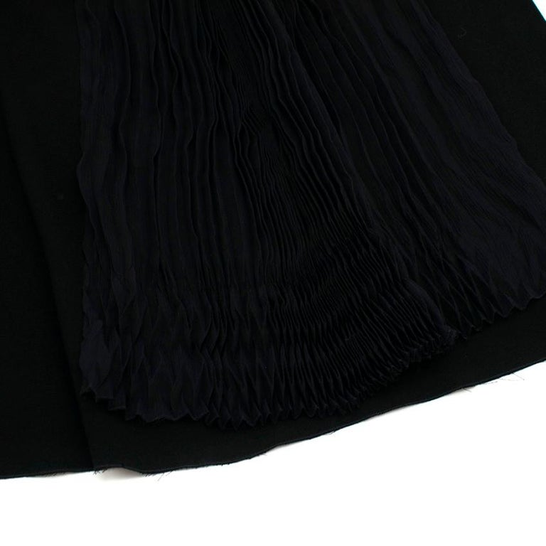 Prada Black Chiffon Detail Sleeveless Dress 40 XS For Sale 3