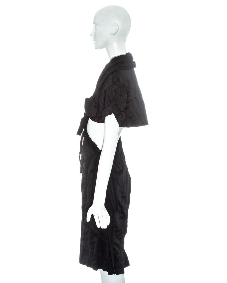 Prada black crinkled dress with cut-out and attached bra, ss 2009 For Sale 1