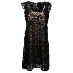 Prada Black Crotchet Dress IT 46