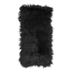 Prada Black Fur & Leather Rug