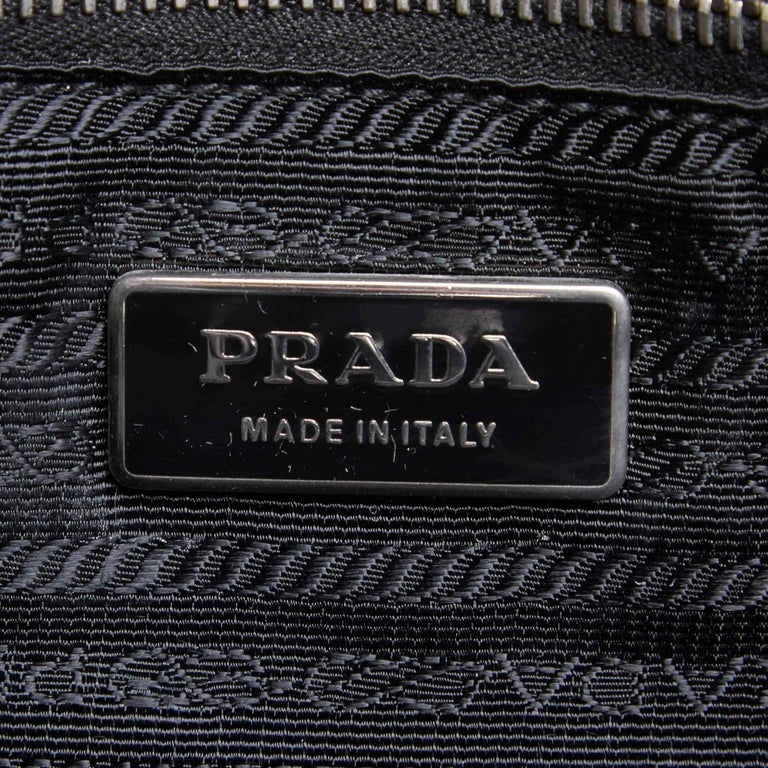 Prada Black Gathered Nylon 2 Way Bag For Sale 3