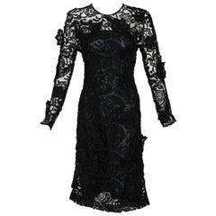 Prada Black Lace Dress Runway Fall 2008