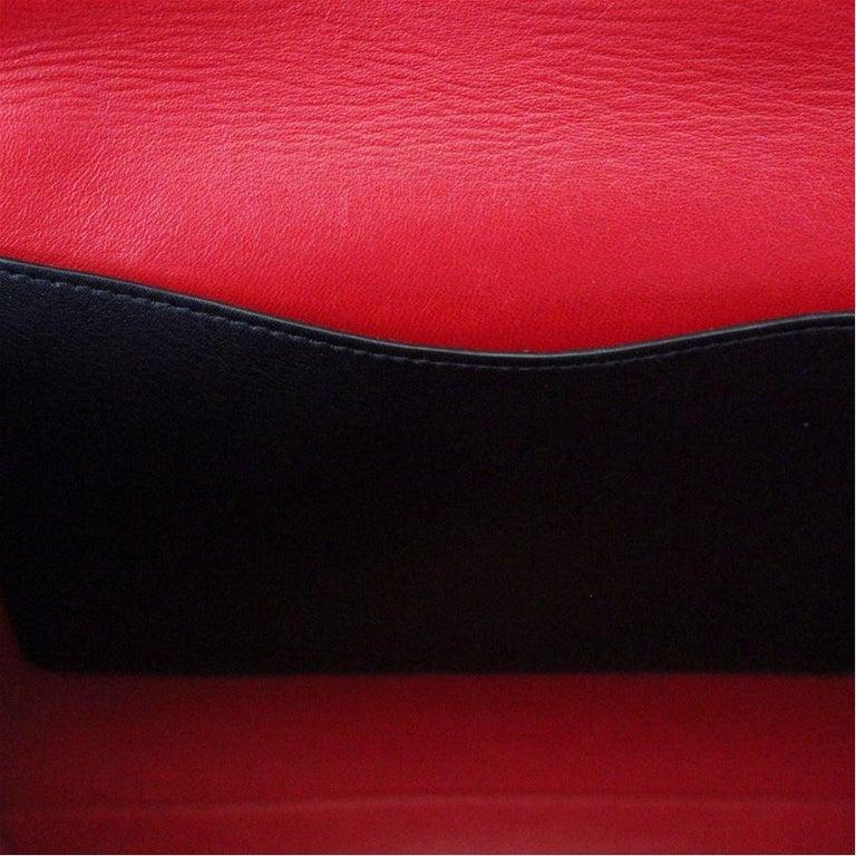 Prada Black Leather Bag For Sale 1