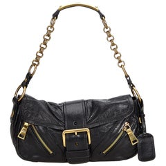 a5aefd8bac0b Prada Black Leather Baguette Italy w/ This item does not come with  inclusions.