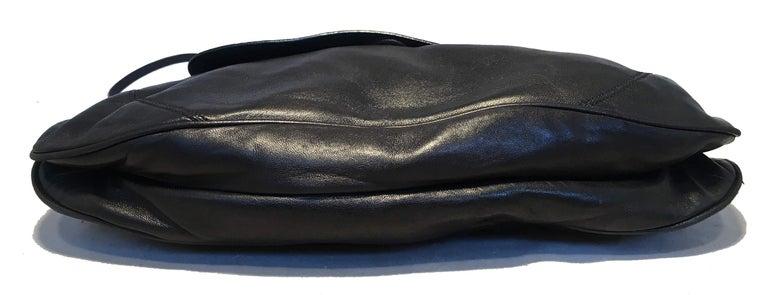 Prada Black Leather Bar Top Handle Convertible Handbag For Sale 1
