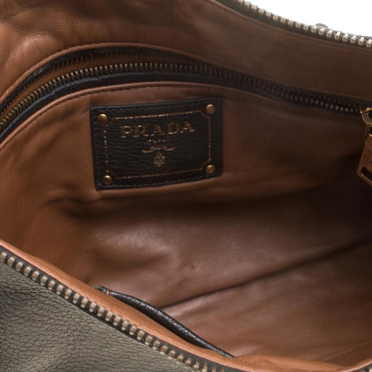Prada Black Leather Fringe Clutch For Sale 5