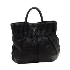 Prada Black Leather Hobo