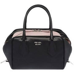 PRADA black leather INSIDE MEDIUM Shoulder Bag