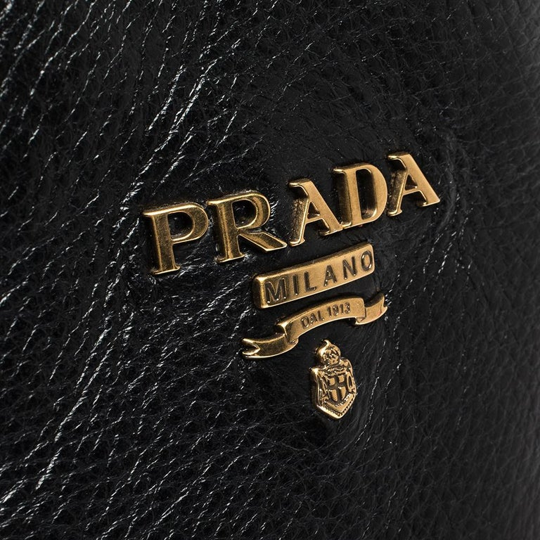 Prada Black Leather Knee Length Buckle Strap Boots Size 40 For Sale 3