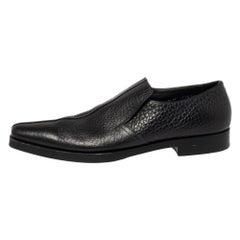 Prada Black Leather Loafers Size 45