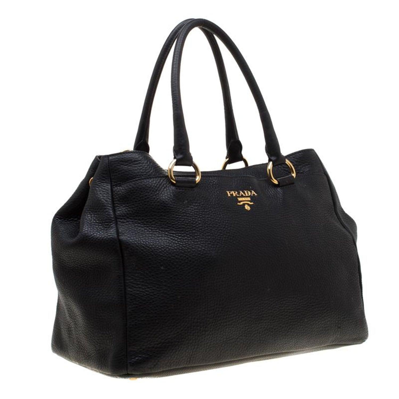 b53d529e Prada Black Leather Top Handle Bag
