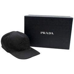 Prada Black Logo Baseball Cap