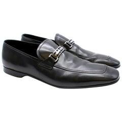 Prada Black Men's Leather Loafers SIZE 11